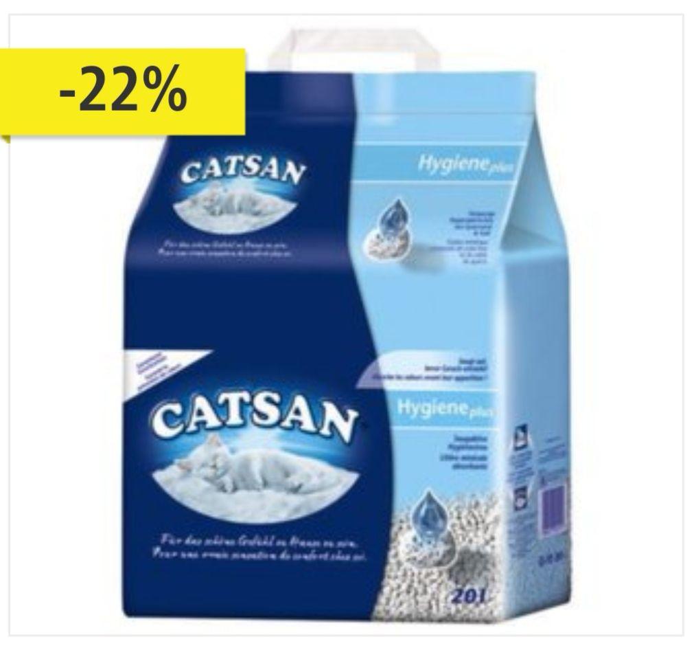 5 x Catsan Hygiene 20 Liter Katzenstreu [nicht klumpend]