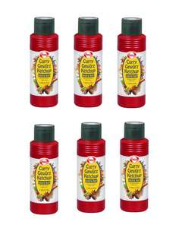 [Redealer / Dealclub] 6er Pack Hela Curry Gewürz Ketchup Extra Hot [MHD 07.2019] (0,43€ / 100ml) 1800 ml