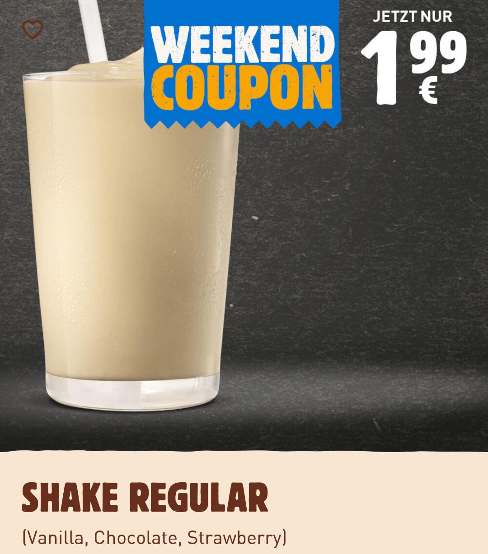 Burger King Shakes (0,4) - 1,99€ (Oreo, Chocolate, Vanilla, Strawberry)
