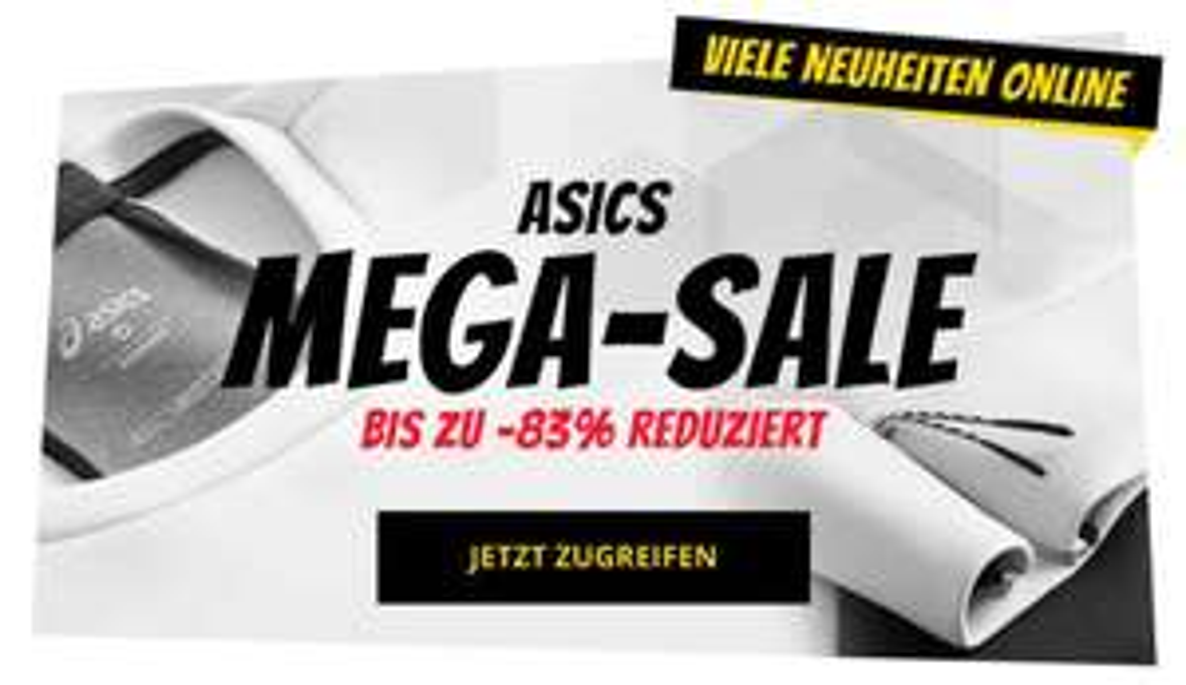 Asics Mega-Sale bei Sportspar, z.B. Sneaker