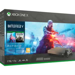 Microsoft Xbox One X Gold Rush Special Edition + Battlefield V /// Microsoft Xbox One X + Fallout 76