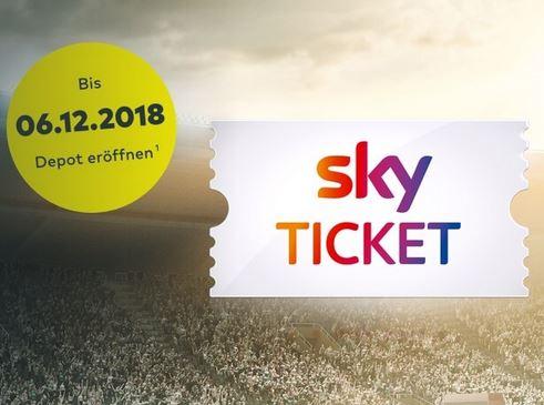 comdirect - Depot eröffnen, 3 Trades tätigen und 6 Monate Sky Supersport Ticket erhalten