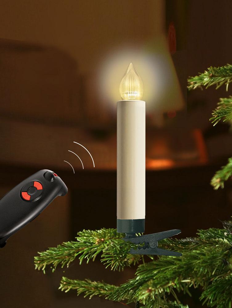 Niko Licht Fix Kabellose Weihnachtsbaumkerzen Mini 10 Stück, inkl. Batterien für 8,88 € (zzgl. Versand 4,90) @Globus Baumarkt