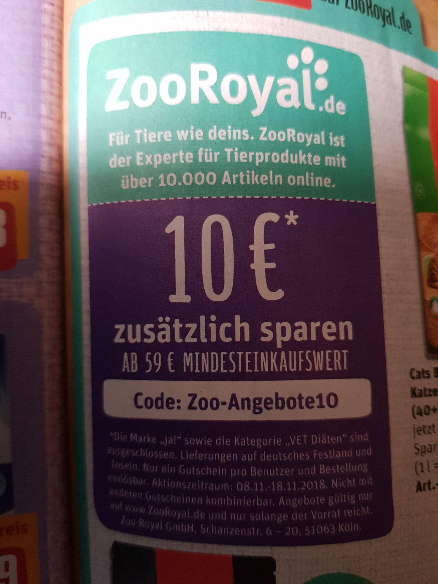 10€ sparen bei ZooRoyal (MBW 59€)