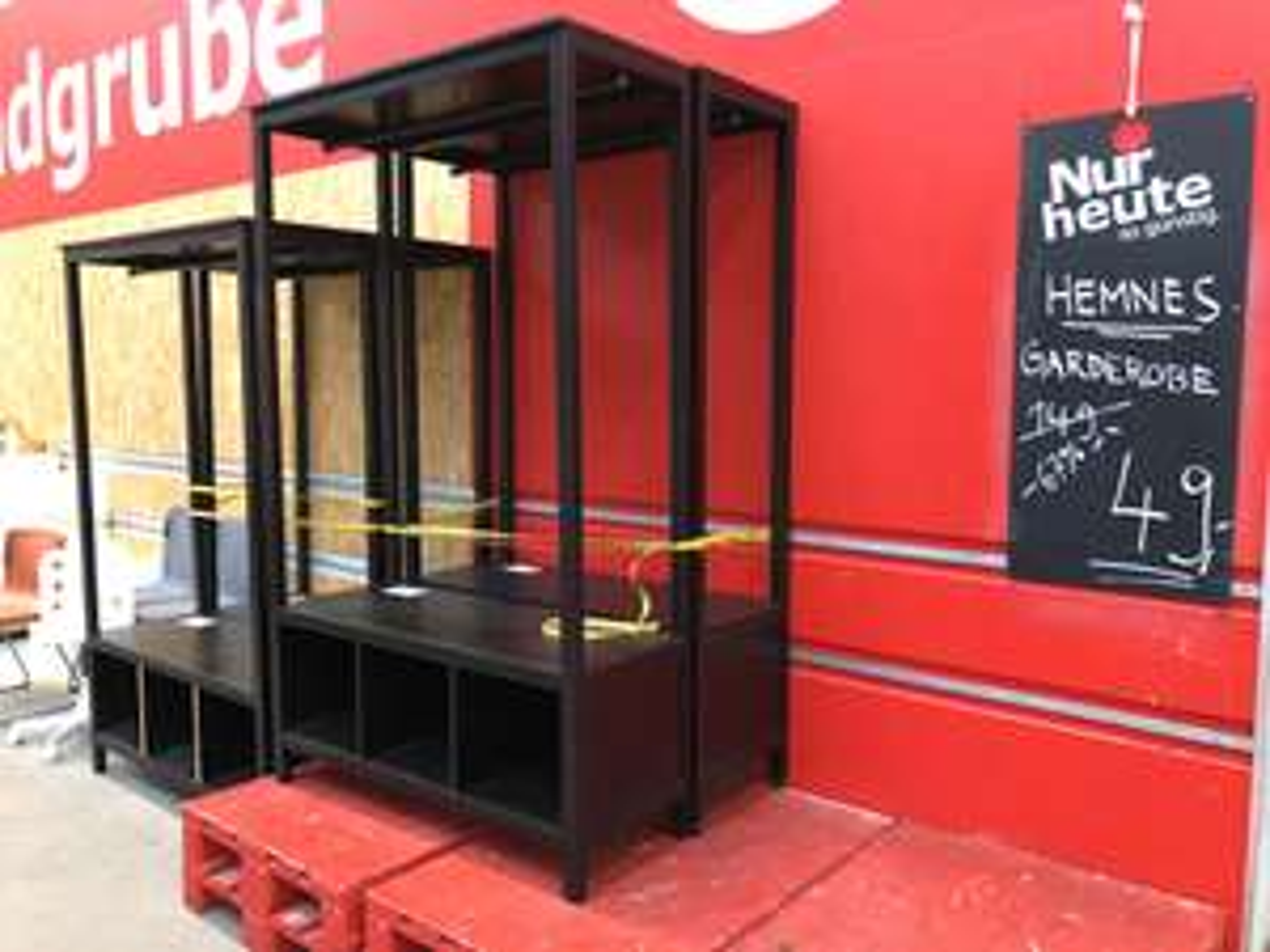 [lokal] Ikea Kiel Hemnes Garderobe schwarzbraun Fundgrube