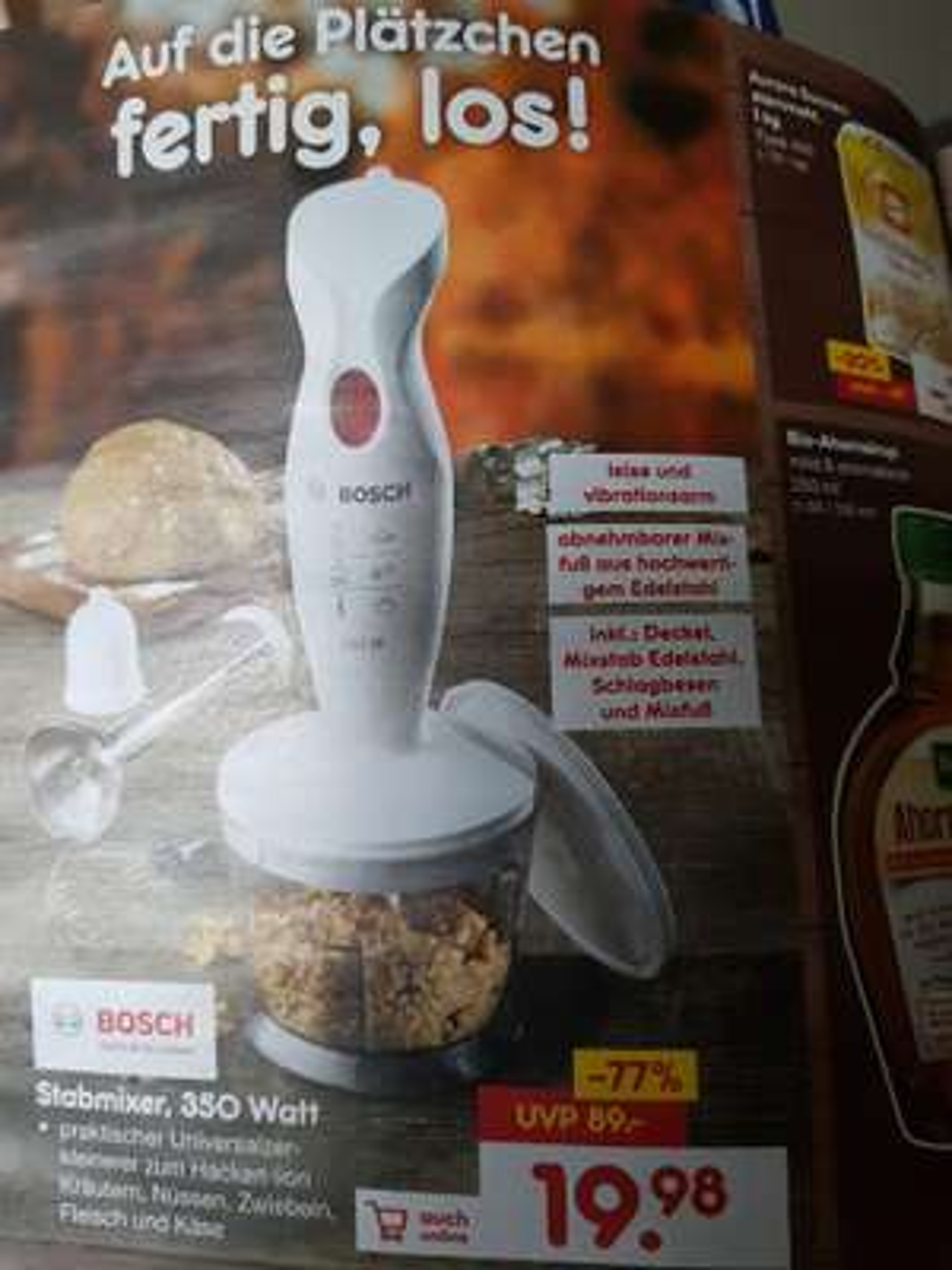 Bosch Stabmixer 350 Watt im Netto Marken-Discount