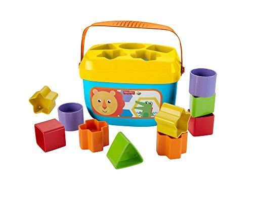 [Amazon Prime] Fisher-Price FFC84 Babys Erste Bausteine Formensortierspiel mit Spielwürfeln und Eimer zum Verstauen, ab 6 Monaten
