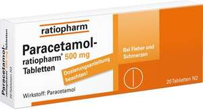 versandkostenfrei bestellen bei [Sanicare] z.B. Paracetamol 500mg von Ratiopharm 20 Stück