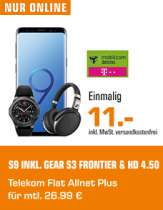 Samsung Galaxy S9 & Gear S3 Frontier & Sennheiser HD 4.50 BTNC Wireless im MD Telekom Flat Allnet Plus