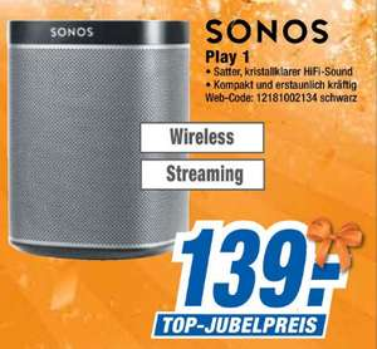 [Lokal expert Bielinsky] Sonos Play:1 schwarz / weiß für 139€