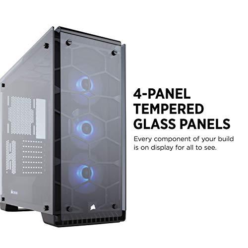 (Amazon) Corsair Crystal 570X RGB PC-Gehäuse (Kompakt Mid-Tower ATX, mit gehärtetem Glas und RGB-Lüftern) schwarz
