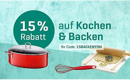 Yomonda 15% Rabatt auf Koch und Back
