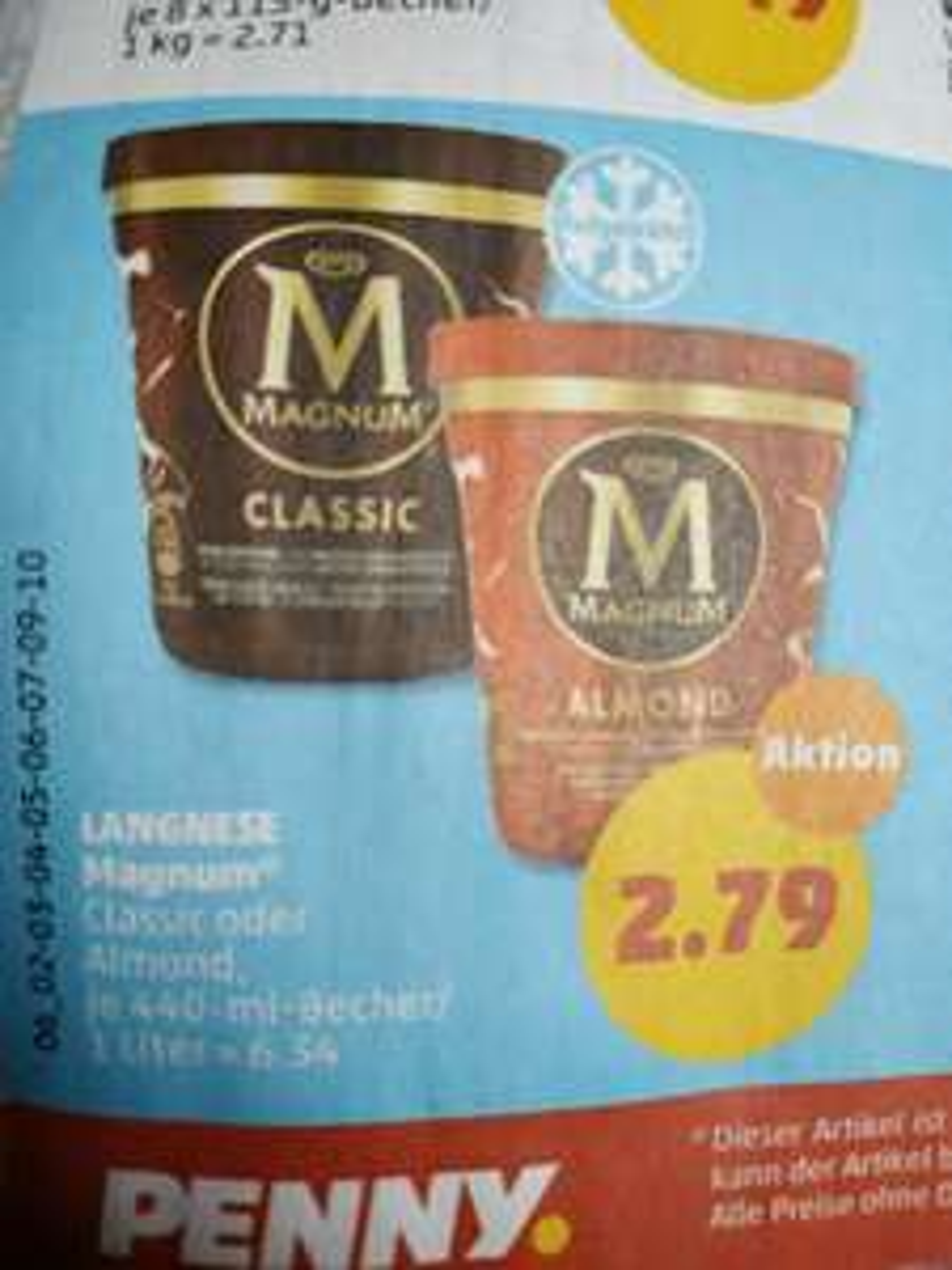 [Penny] Ab 12.11.: Magnum Eisbecher Classic und Mandel je 2,79€