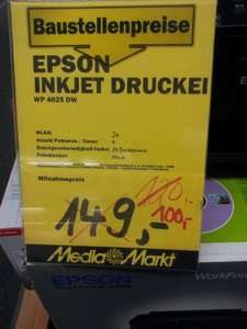 Media Markt Kaiserslautern Epson WorkForce Pro WP-4025 DW für 100,-