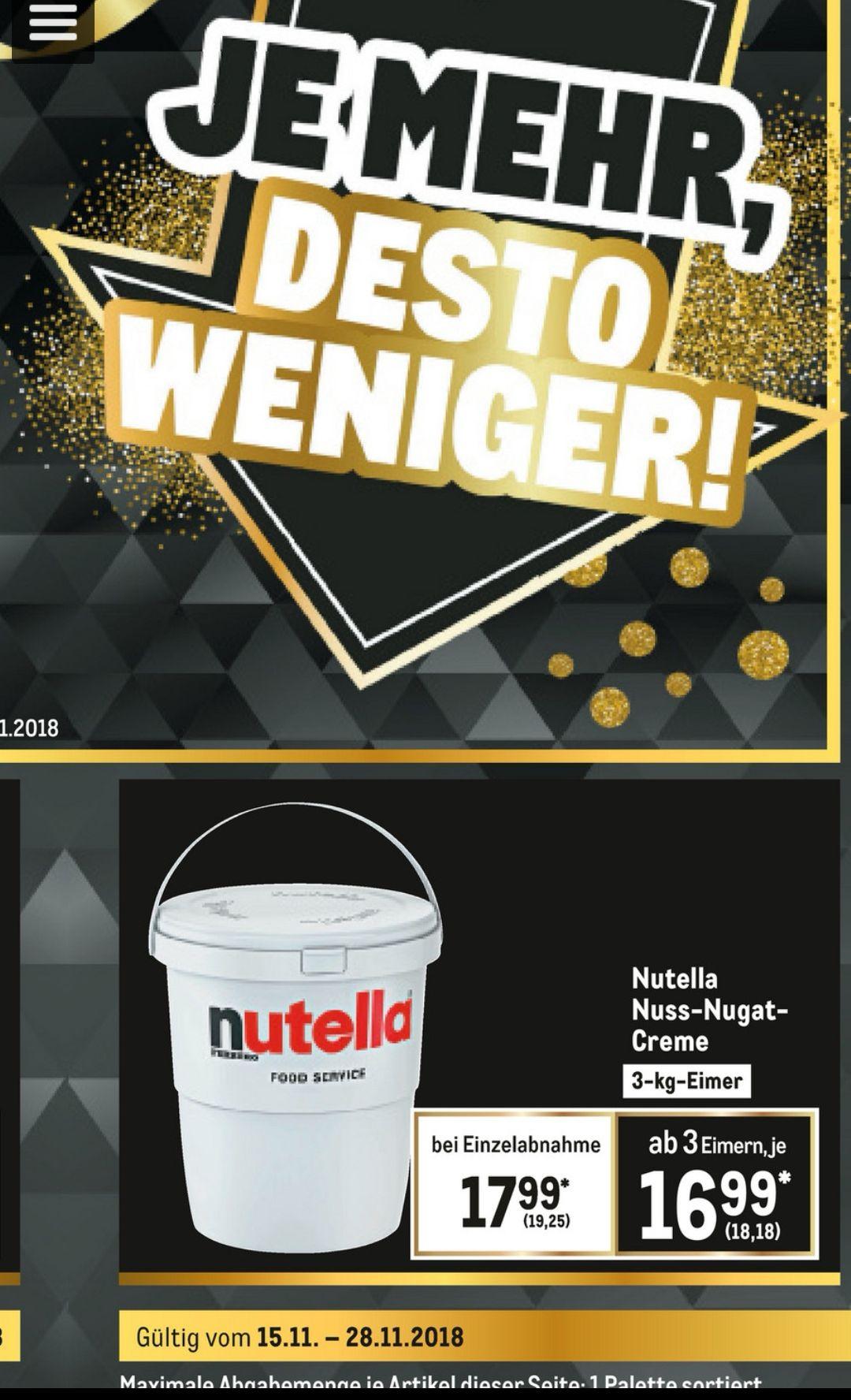 [Metro] Nutella für Junkies 3kg Eimer