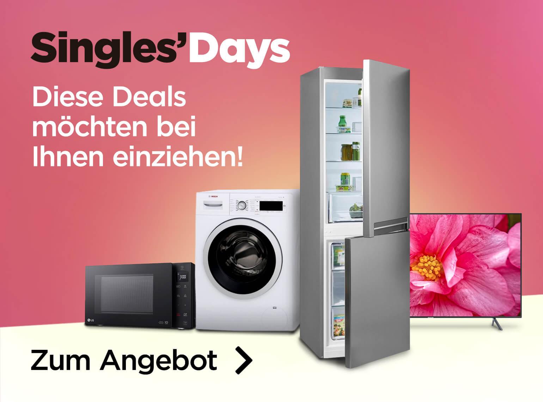 [ao.de / Ebay] Singles Day Angebote z.B. Siemens Kondenstrockner für 322 €, LG Mikrowelle für 111 €, Beko Geschirrspüler für 209 €