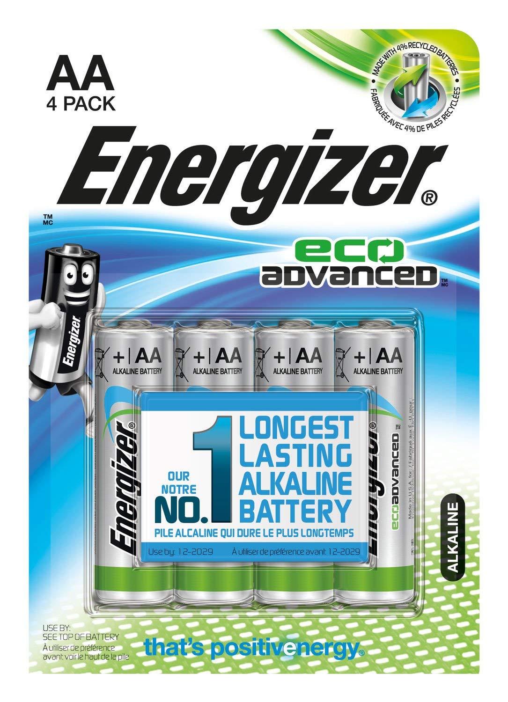 Energizer advanced eco 1,5 Volt Alkaline Batterien AAA oder AA (lagerfähig bis zu 12 Jahre), 4 Stück für 1 Euro [Thomas Philipps]