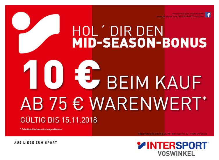 [Lokal Main-Taunus-Zentrum] Intersport 10€ beim Kauf ab 75€ Warenwert (Rabattkombinationen sind ausgeschlossen.)