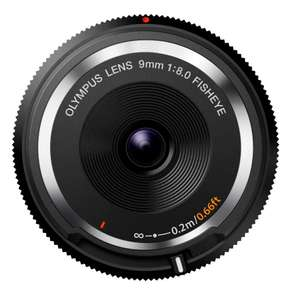 Olympus Body Cap Lens 9mm f8 über amazon.it, Prime erforderlich