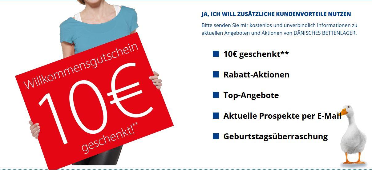 [Dänisches Bettenlager] 10€ Gutschein bei 75€ MBV