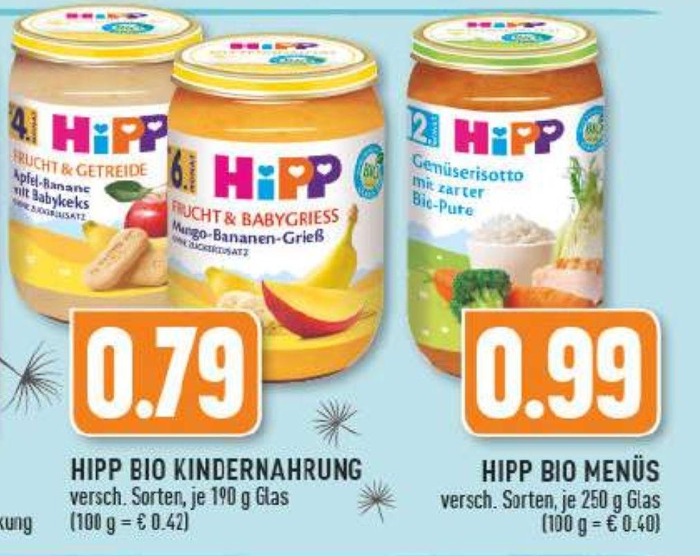 EDEKA Rhein-Ruhr- HIPP Bio Menüs
