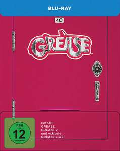 Grease & Grease 2 + Grease Live! (Remastered Edition) 40th Anniversary Edition Limited Steelbook Edition (Blu-ray) für 16,98€ (Media Dealer)