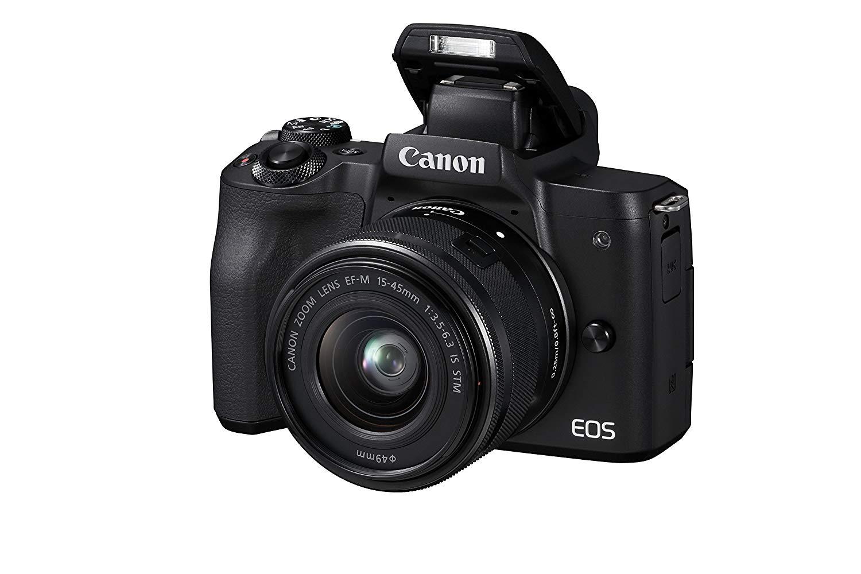 Canon EOS M50 Kit  mit EF-M 15-45mm 3.5-6.3 IS STM schwarz für 498,85€ [Amazon.it]