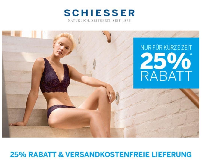 25% Rabatt und kostenfreie Lieferung bei Schiesser ab 40€ MBW