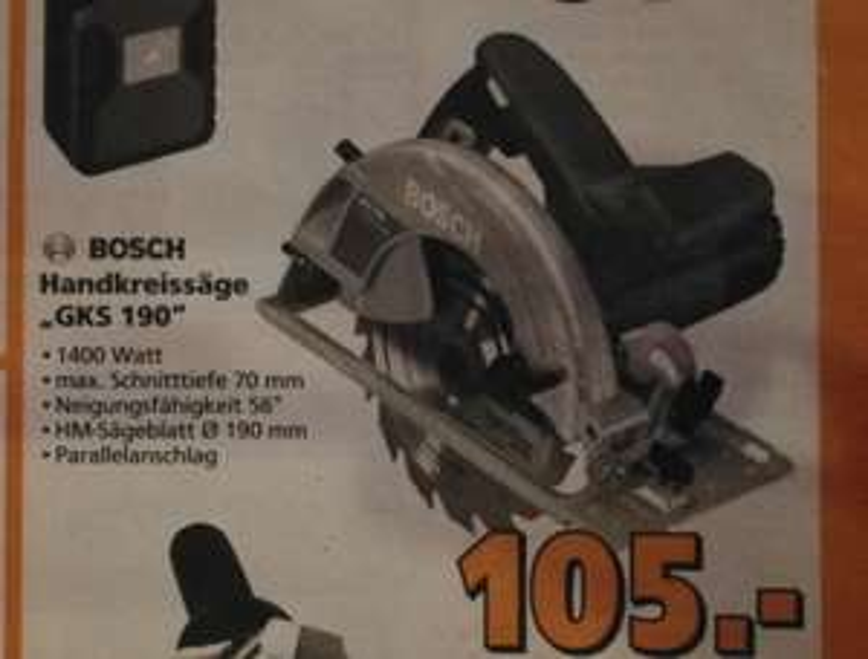 Bosch Professional GKS 190 Kreissäge (durch Bauhaus TPG)