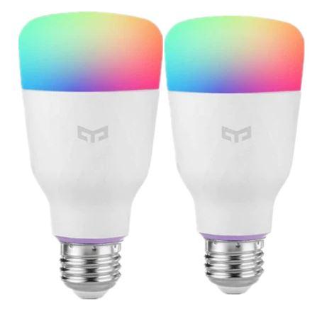2 Stück Xiaomi YEELIGHT 10 watt RGB E26 Drahtlose WiFi Control Smart Glühbirne Stück 11 € !