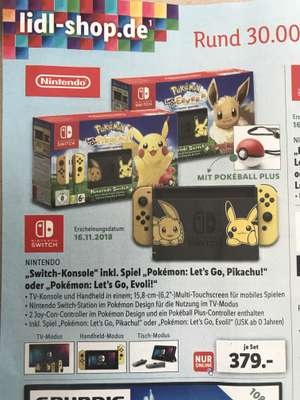 Nintendo Switch inklusive Pokémon und Pokeball Plus