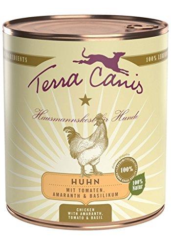 Terra Canis Classic (Nassfutter für Hunde) Huhn mit Amaranth, Tomaten und Basilikum | 6x800g  für 11,44€ [Amazon Prime]