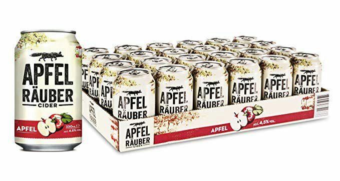 Apfel Räuber Cider (24 x 0.33 l) | Amazon Prime | 0,60€ x Dose