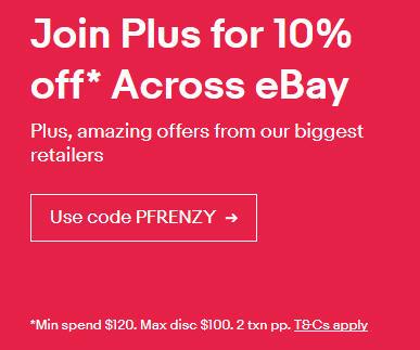 Ebay.com.au - Ebay plus Mitglieder -10% max 100$ in Australien