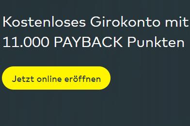 comdirect mit 11.000 Payback Punkten (110€)