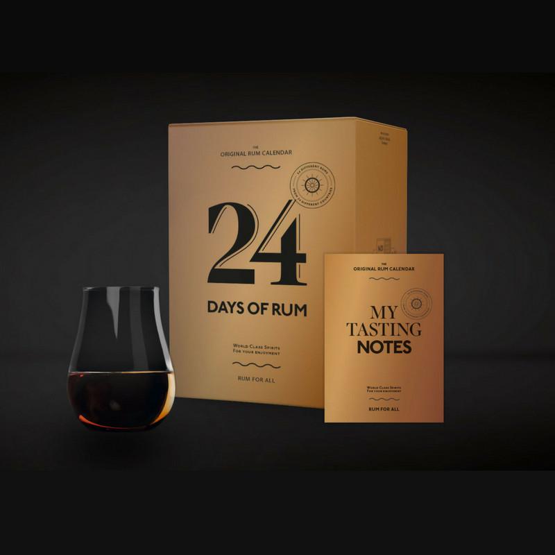 Adventskalender 24 Days of Rum 2018 (24x 0.02l Rum, inkl. Tumbler) + weiterer Gratis-Tumbler