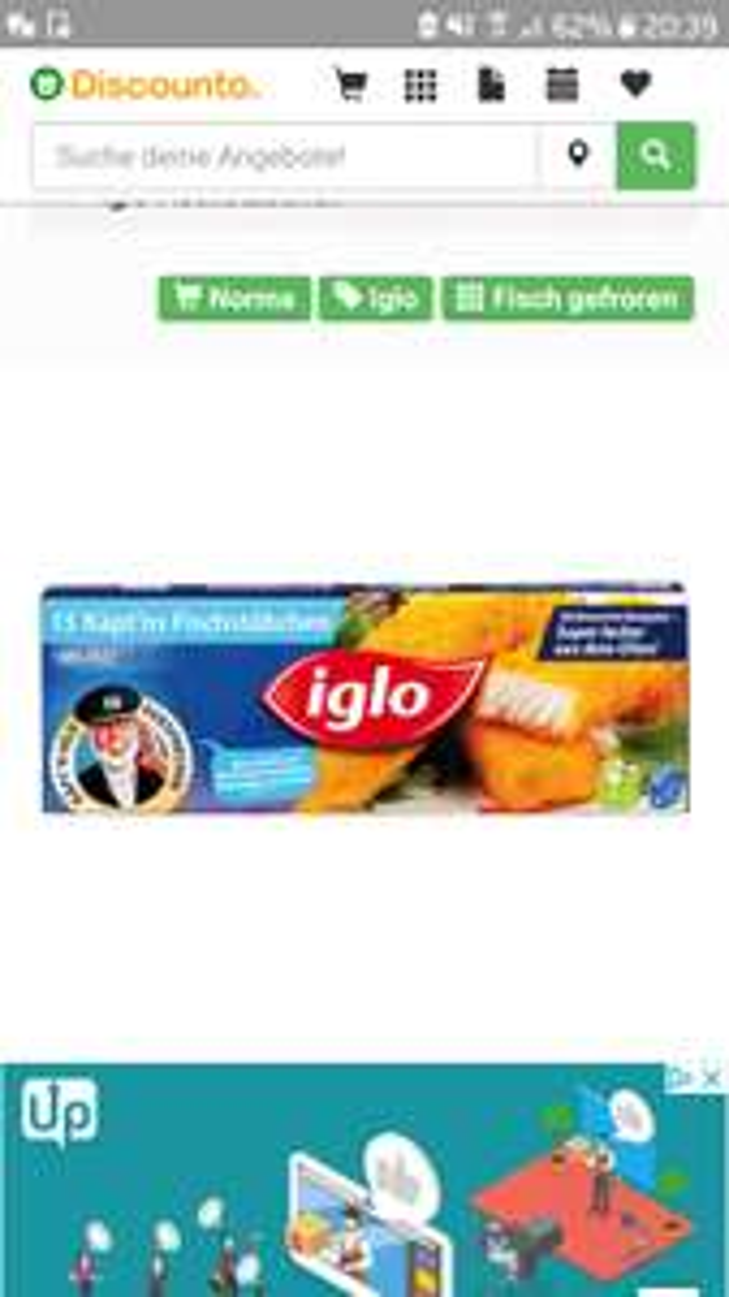 Lidl Iglo Fisch- und Backfisch-stäbchen 12. Bis 17.11