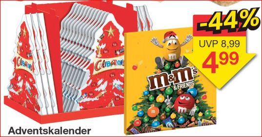 Adventskalender m&m's & Friends oder Celebrations für 4,99 Euro /   [Jawoll]