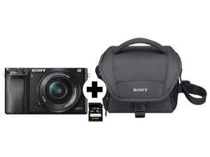 sony alpha 6000 kit 16 50 mm sony sd karte 16gb kamera. Black Bedroom Furniture Sets. Home Design Ideas