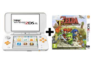 Nintendo New 2DS XL (Weiß/Orange) + The Legend Of Zelda Tri Force Heroes für 106€ (Media Markt AT)