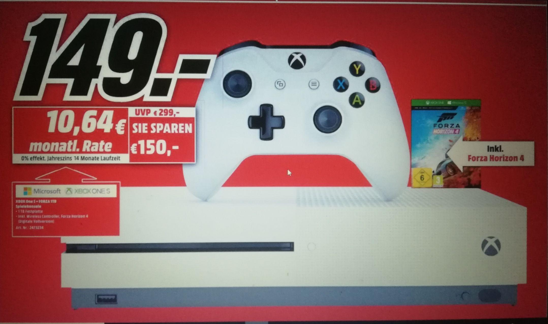 Microsoft Xbox One S1TB + Forza Horizon 4 (Lokal Mediamarkt Nürnberg)