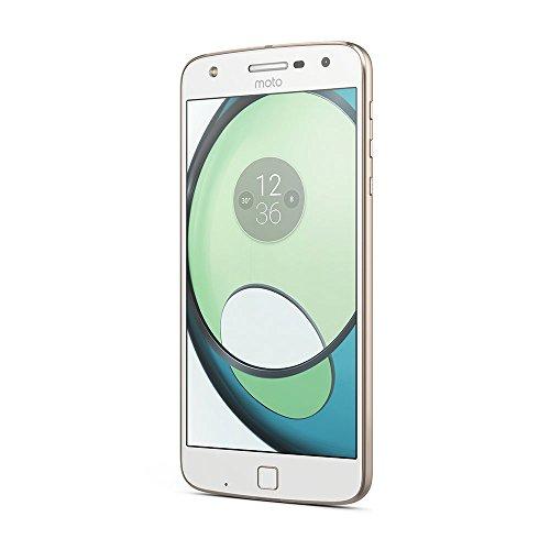 Motorola Moto Z Play Smartphone (14 cm (5,5 Zoll), 32 GB, Android 8) Weiß/Fine Gold + Alexa Mod