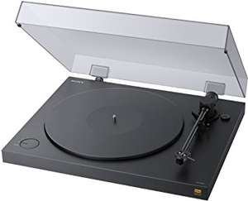 Sony PS-HX500 Plattenspieler Angebot des Tages High-Resolution-Audio-Ripping-Funktion, Aufnahme Double-DSD Format, USB, A/D Wandler Schwarz