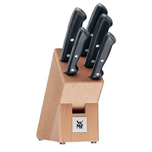 WMF Classic line Messerblock, mit Messerset, 6-teilig, 5 Messer, 1 Block aus Birkenholz