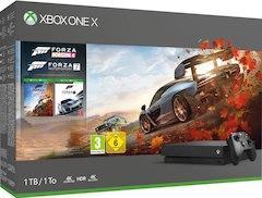 Microsoft Xbox One X 1TB schwarz + Forza Horizon 4 + Forza Motorsport 7