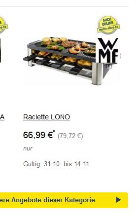 WMF LONO - Raclette für 8 - Metro Black Deals (Offline Metro)
