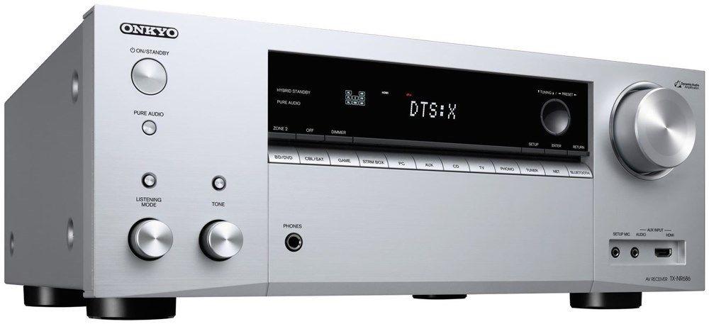 Onkyo TX-NR686-S in silber (Preis mit Gutscheincode PAKET10)