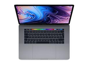 """[gravis] Apple MacBook Pro 15.4"""" (i7-8750H, 16GB RAM, 256GB SSD, 2880x1800, IPS/IGZO, Touch Bar, Radeon Pro 555X, grau) 2018 - MR932D/A"""
