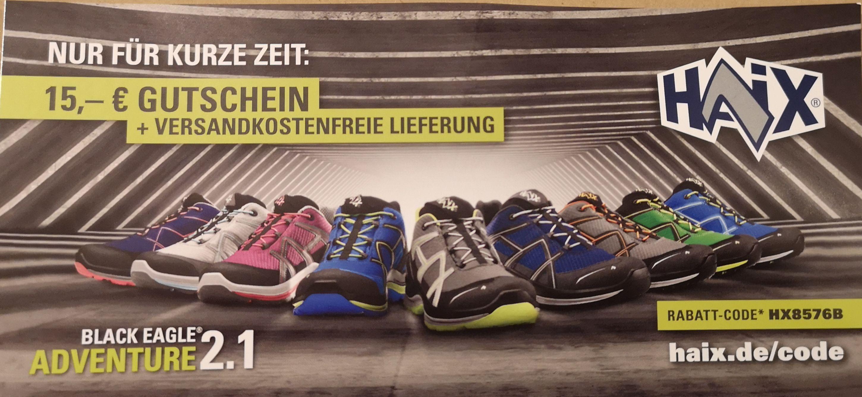 HAIX 15 € Gutschein + VSK-frei (MBW 100 €)