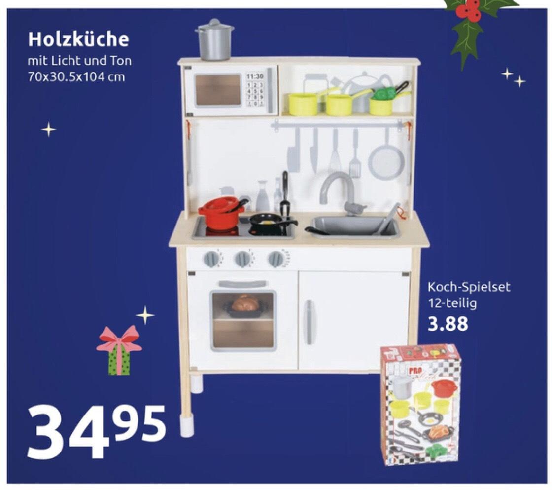 [Action] Holz-Spielküche ähnlich der Aldi-Küche 34,95 + Zubehör für 3,88 €